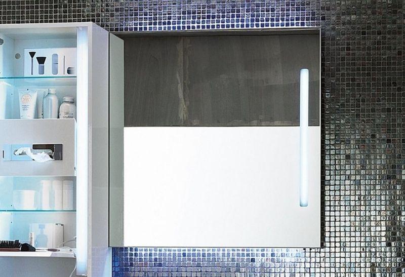 καθρέπτες μπάνιου με LED ντουλαπάκι